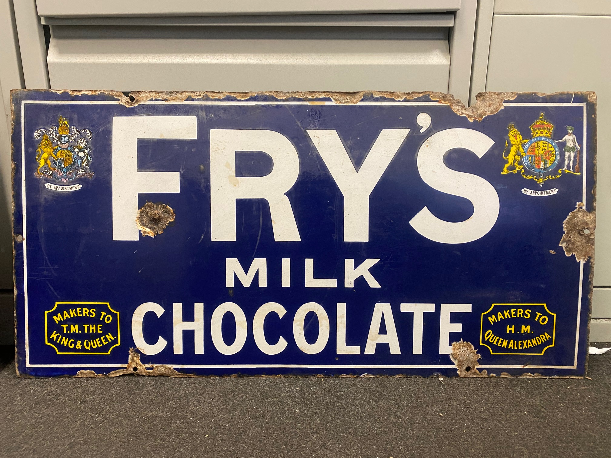 Fry Milk Chocolate sign fount